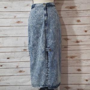 Vintage - Rivington Long Jean Skirt